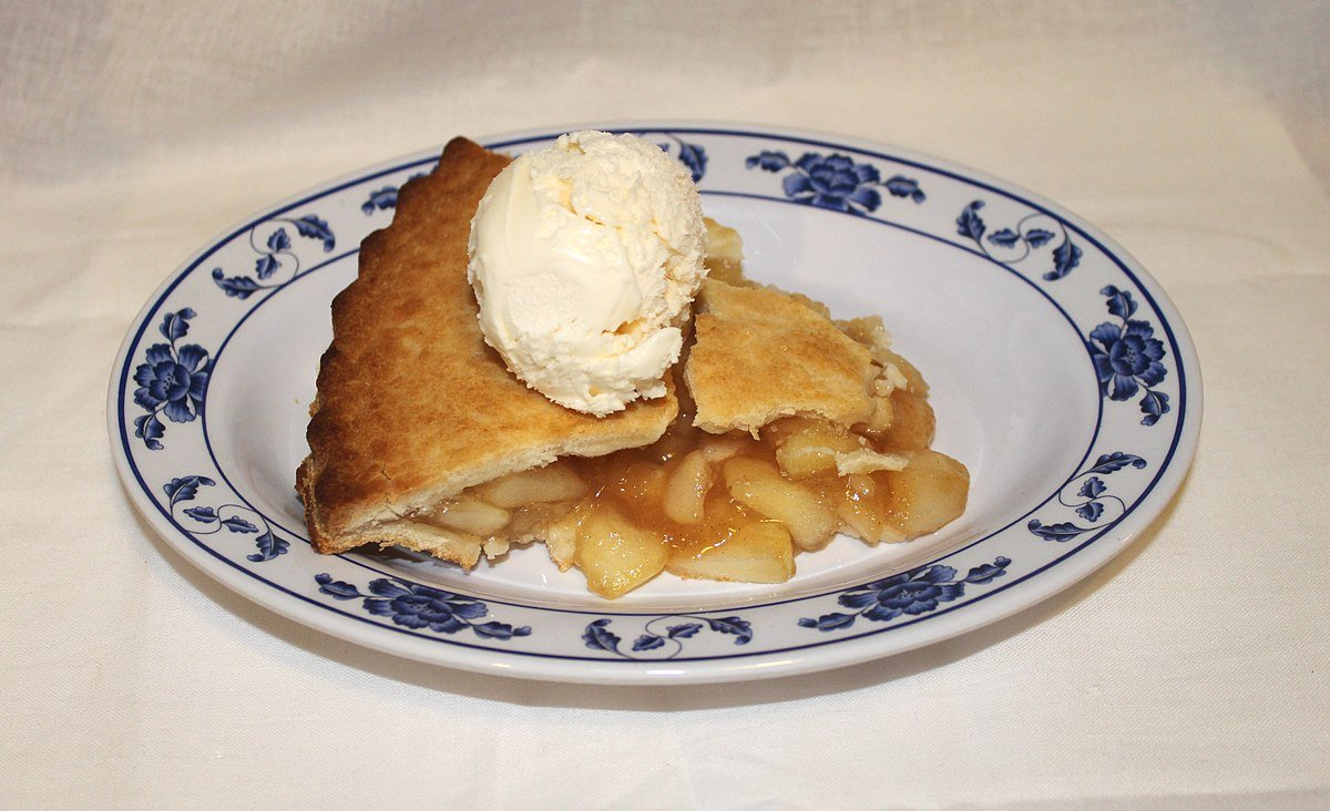 A La Mode Pie with Ice Cream