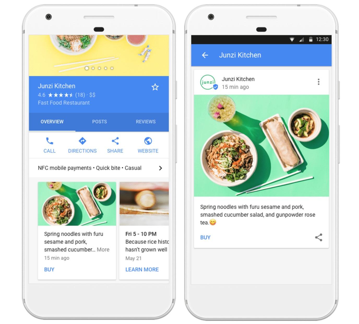 Google posts for restaurants