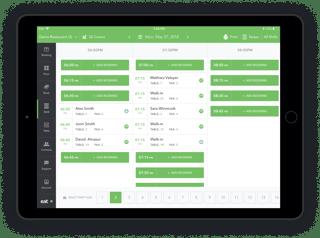 Grid View restaurant reservation software