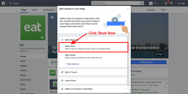 How to install facebook booking widget