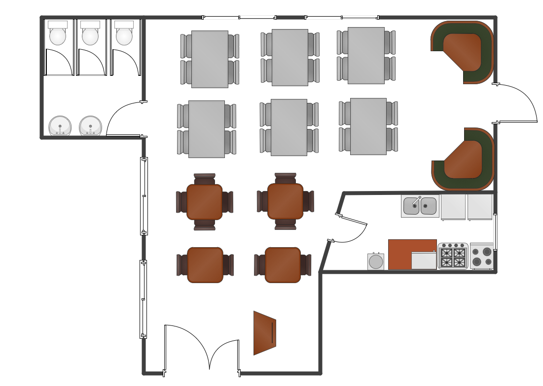 Restaurant Layout Example
