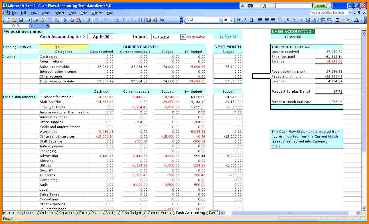 Restaurant-Sales-And-Expenses-Spreadsheet