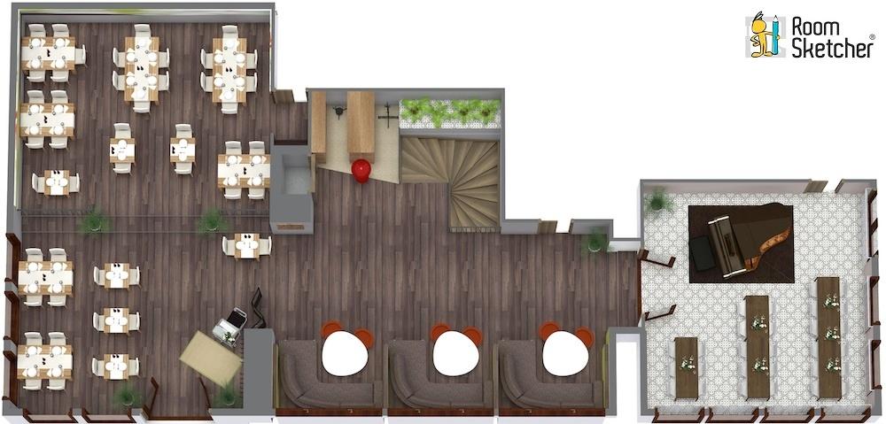 RoomSketcher-Restaurant-3D-Floor-Plan-Software