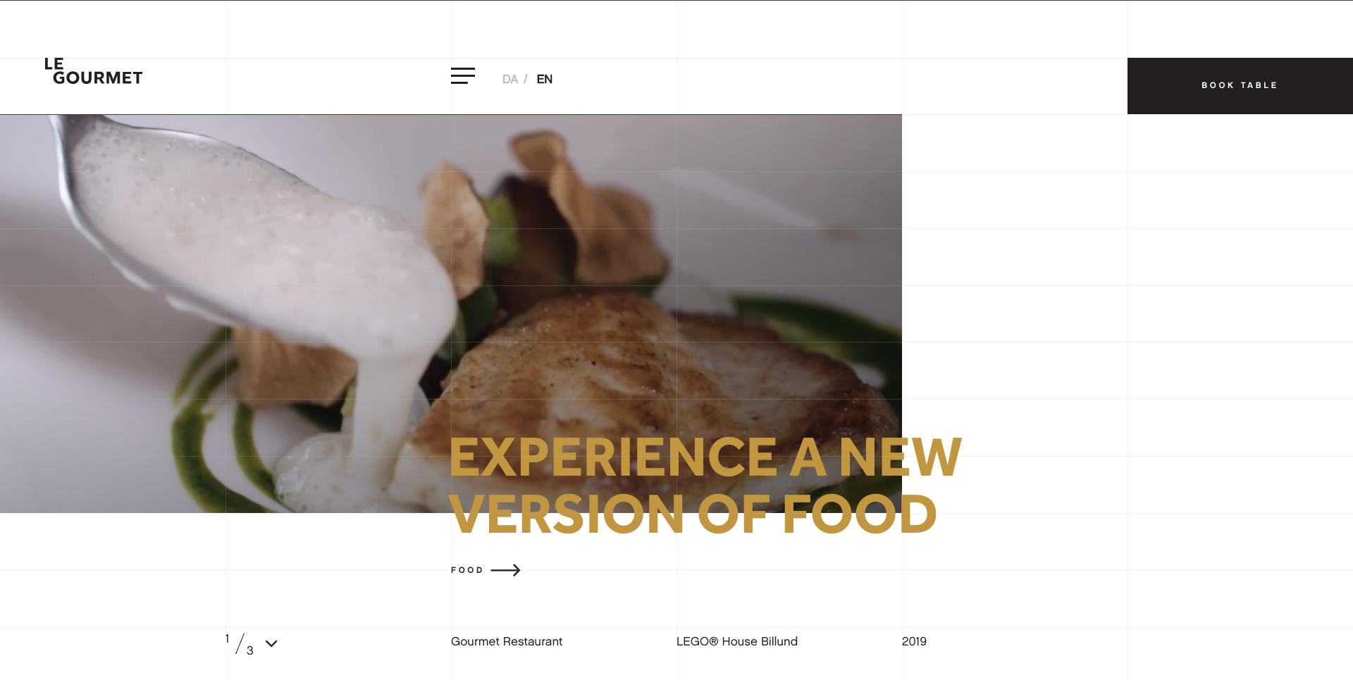 Le Gourmet Restaurant Website Design