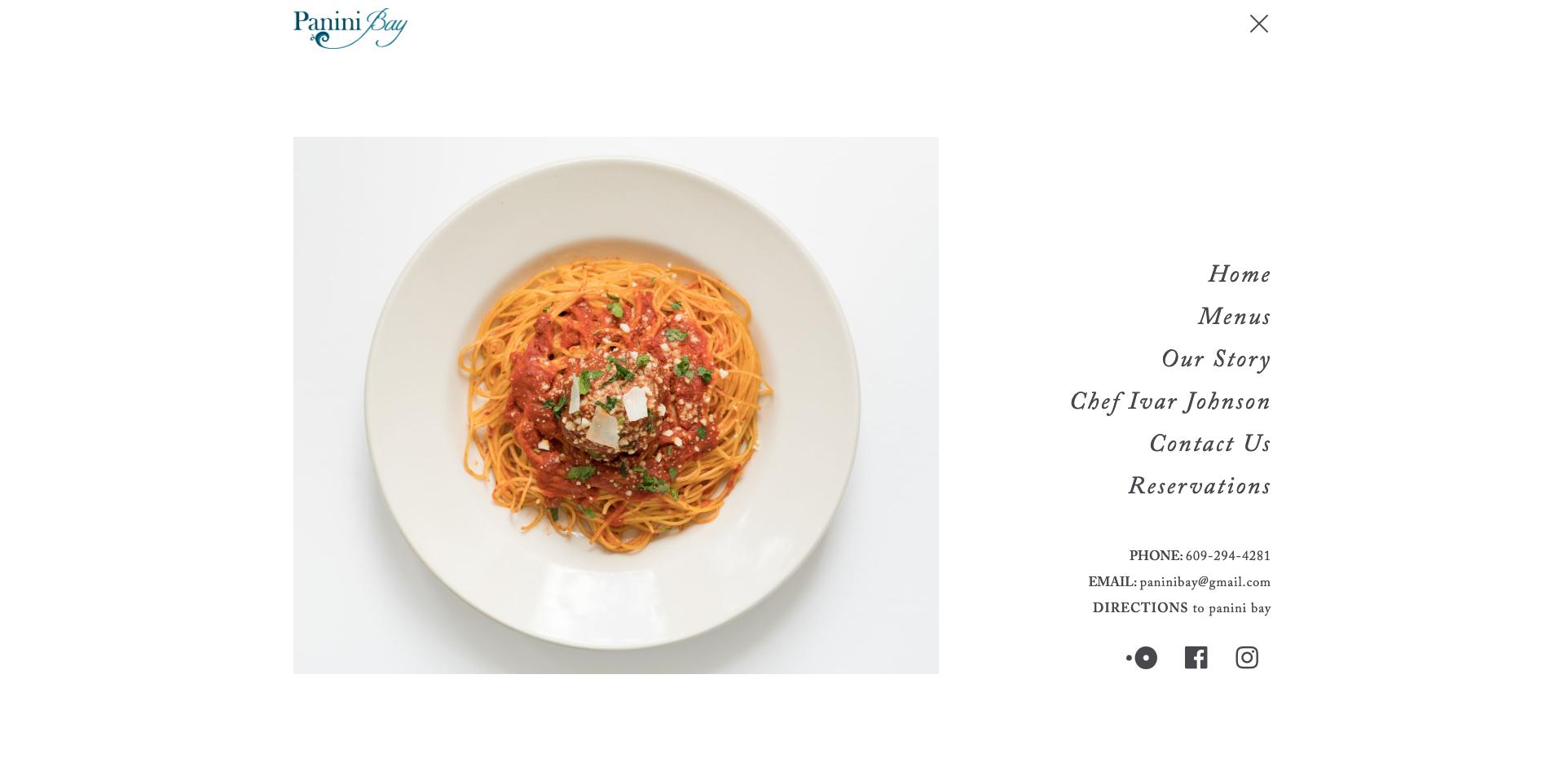 Panini Bay Restaurant Website Design