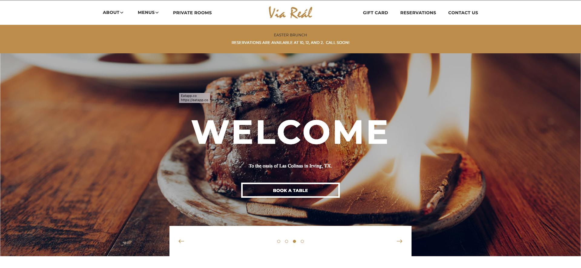 Via Real Restaurant Website Design