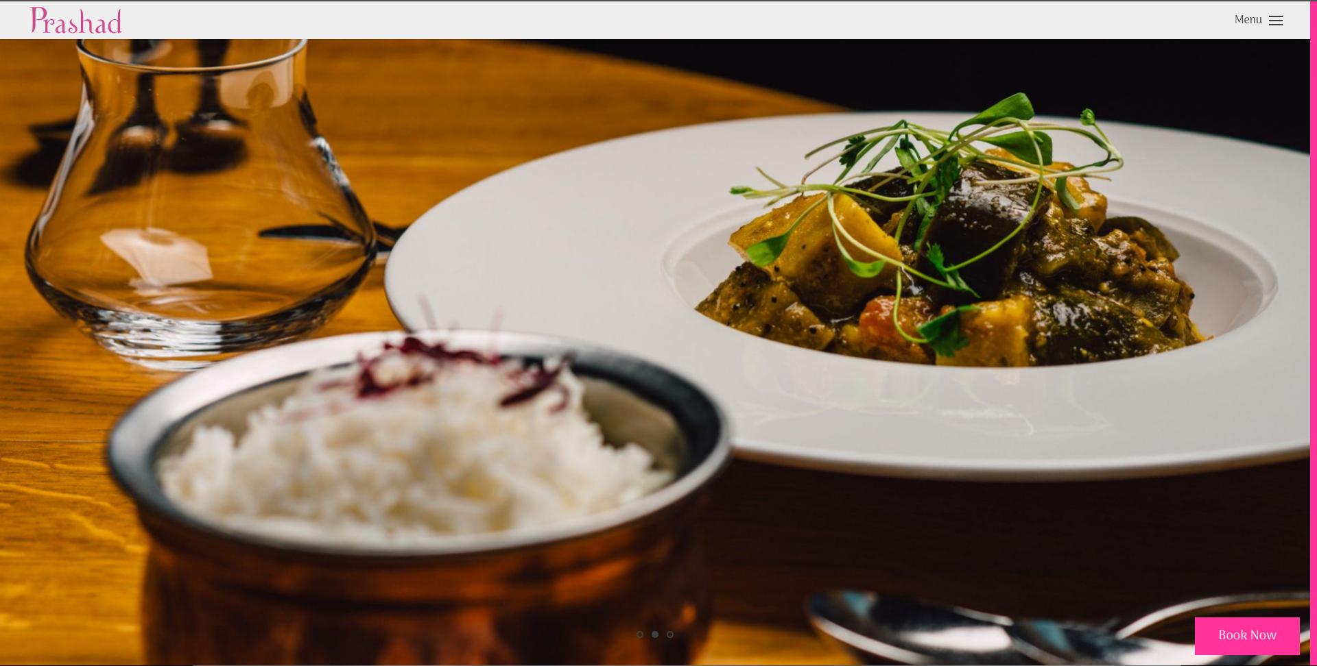 Prashad Restaurant United Kingdom Restaurant Website Design