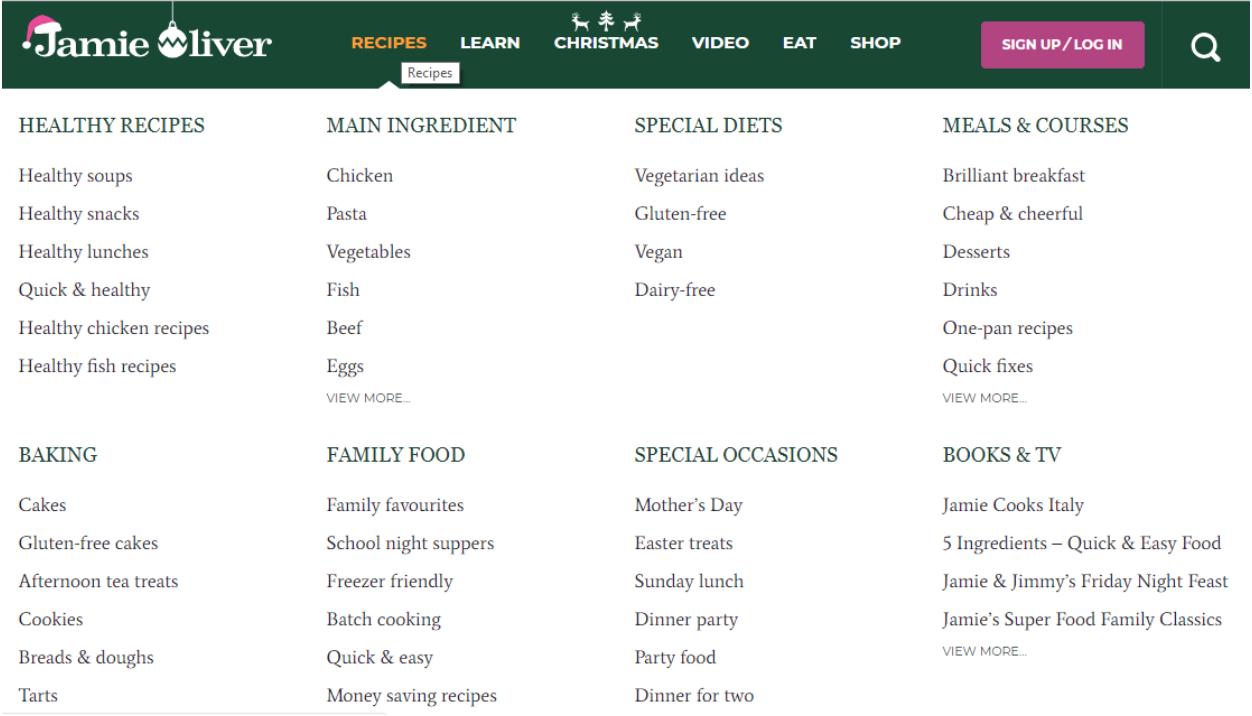 Jamie Oliver Website
