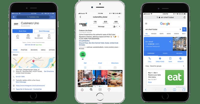 Online booking widgets