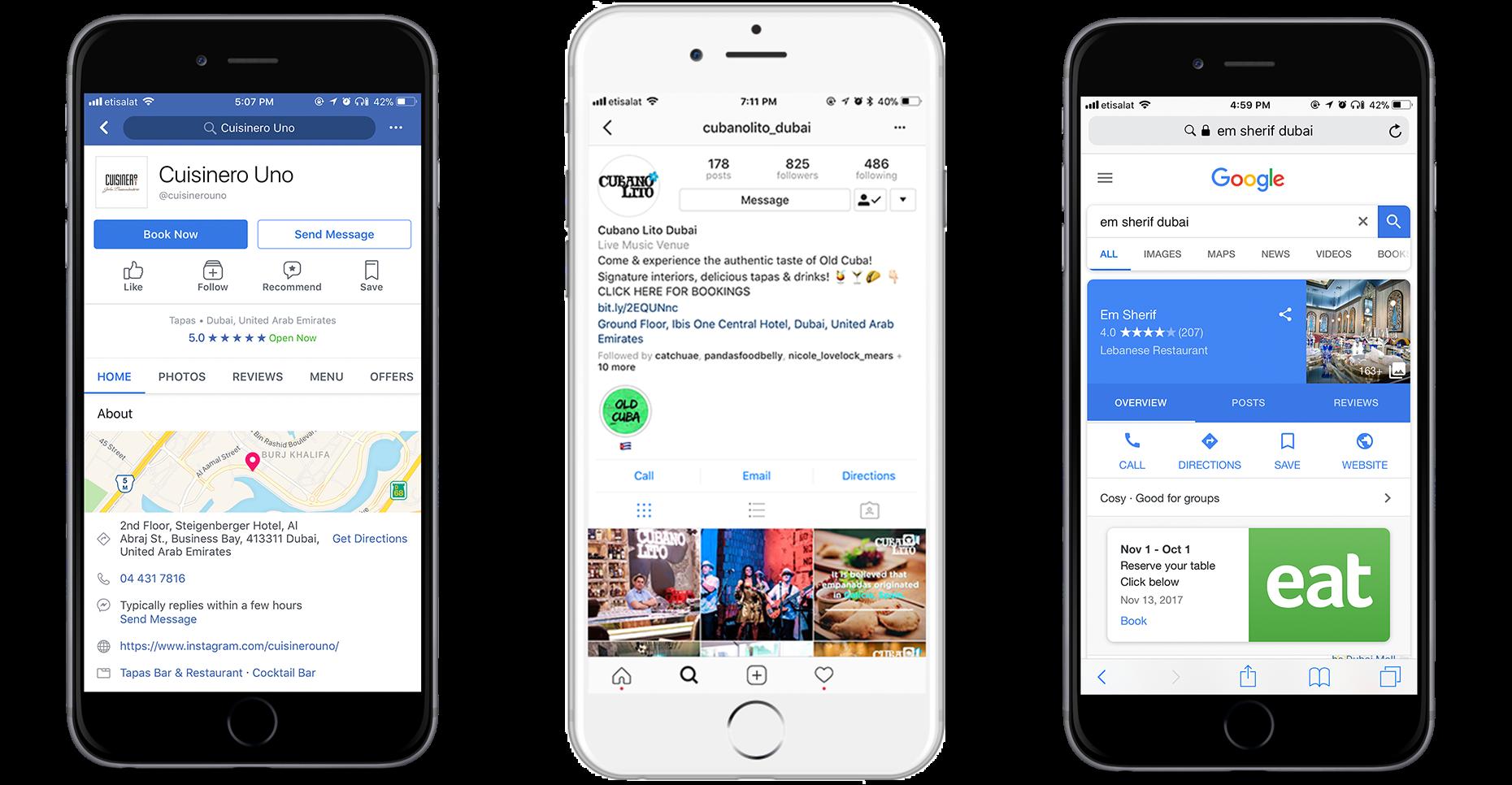 Booking Widget with Eat App