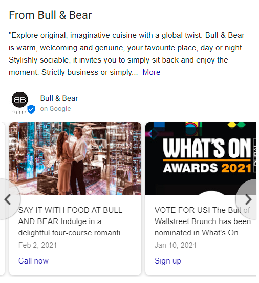 bull&bear google posts