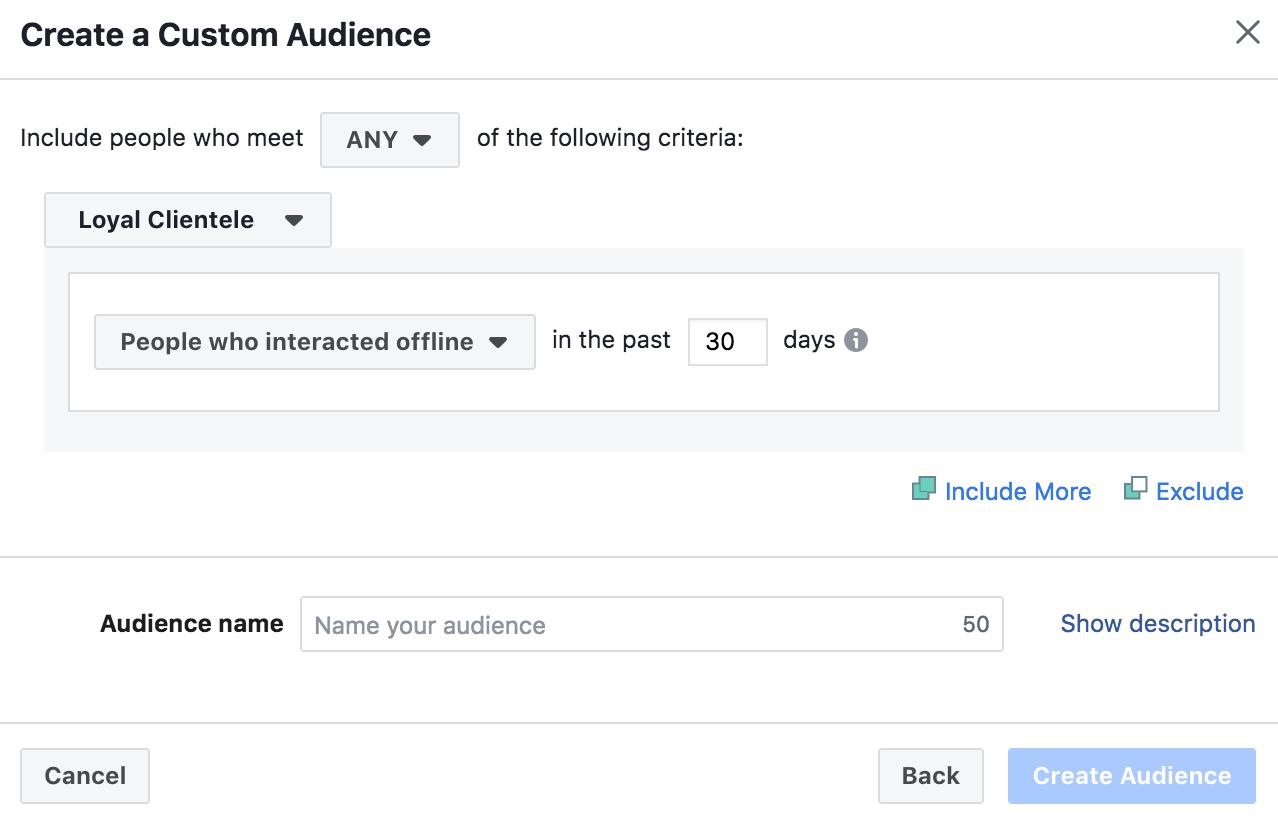 creating a custom facebook audience