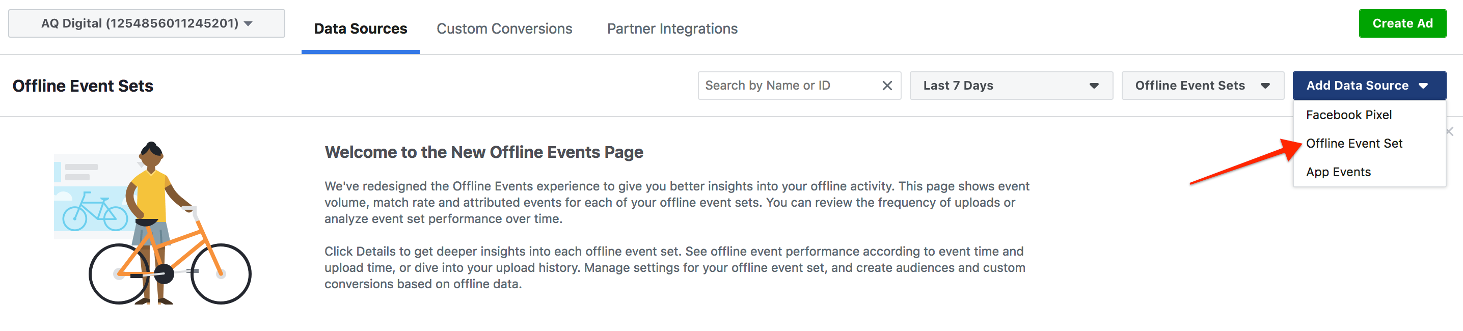 Facebook Setting up Offline Events