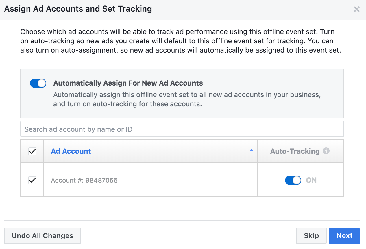 Linking facebook ad account