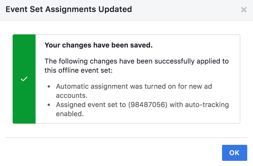 Finalizing Offline Facebook Event