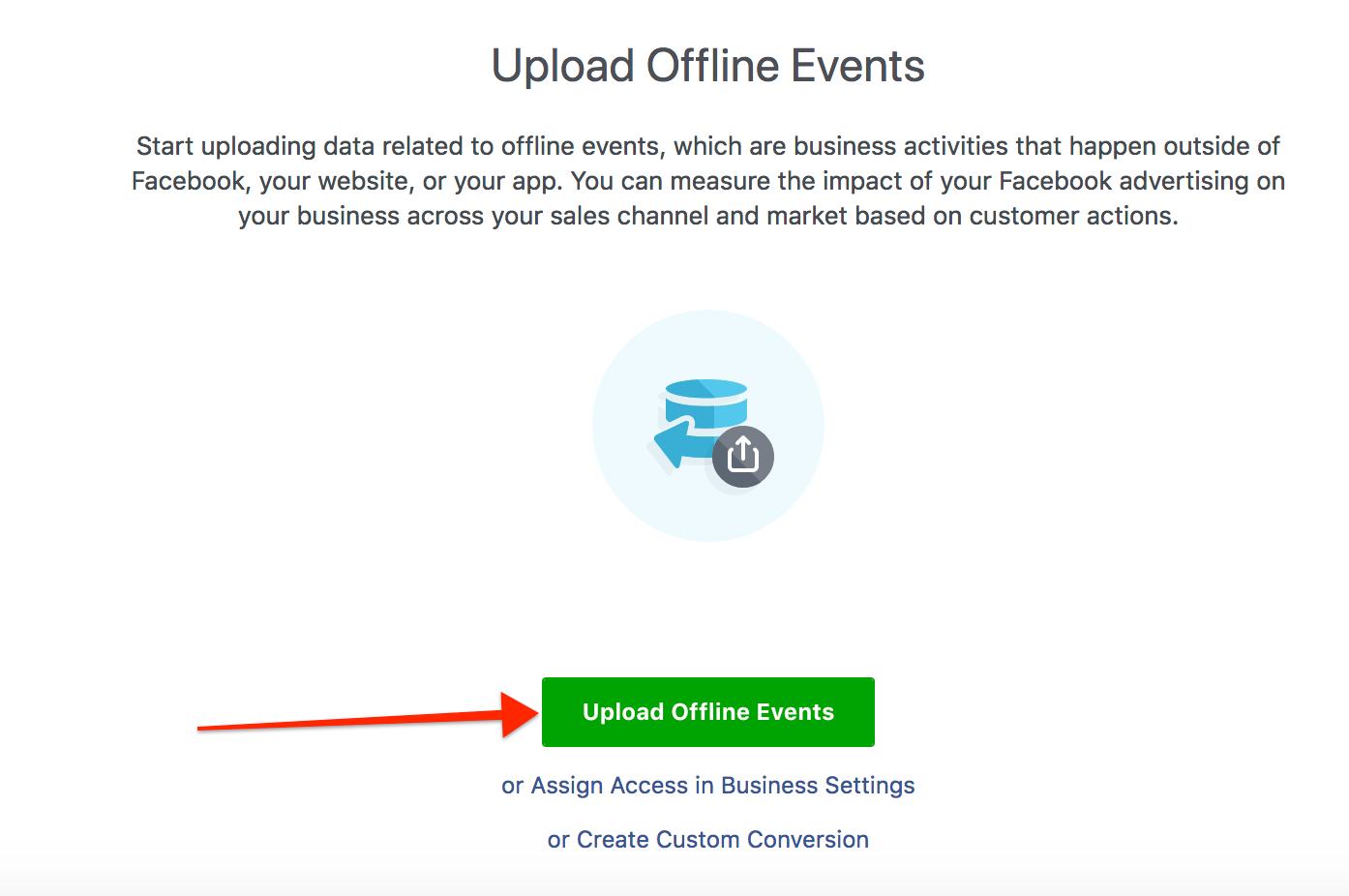 Populating facebook offline events
