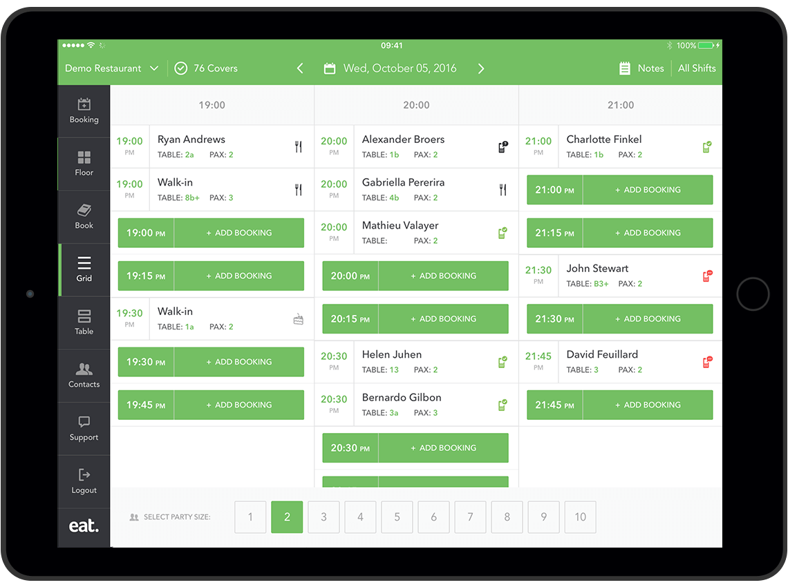 CRM for restaurants with Eat