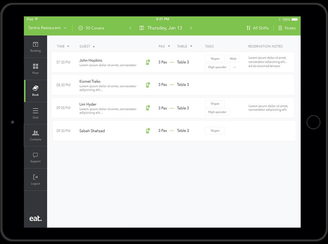 Restaurant customer data download