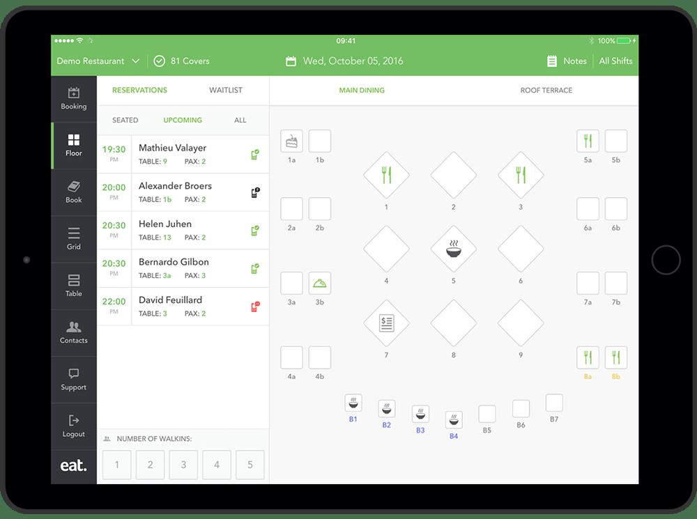 Restaurant Table Management Software Eat App - Restaurant table software