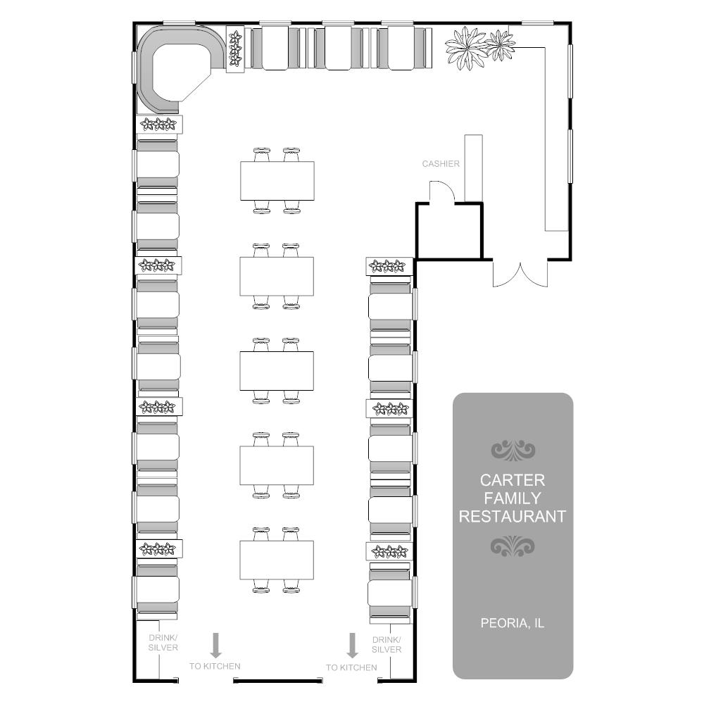 Restaurant Layout Example