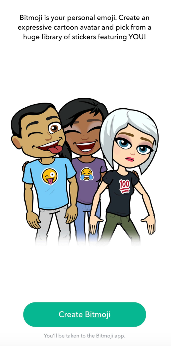 Using bitmoji characters at your restaurant