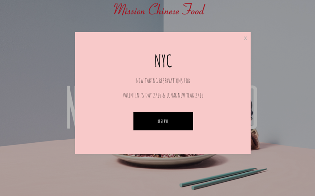 website pop-up