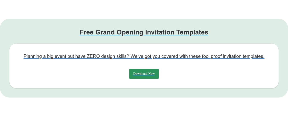 Free Grand Opening Invitation Templates Planning a big event but have ZERO design skills? We've got you covered with  these fool proof invitation templates. Download Now
