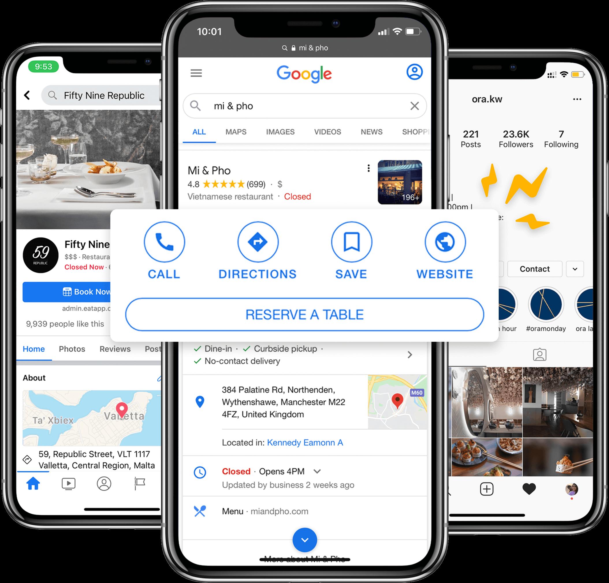 Eat App Online Booking Widget