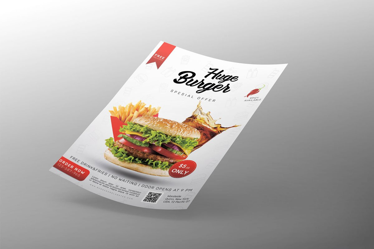 Free-Burger-Restaurant-Flyer