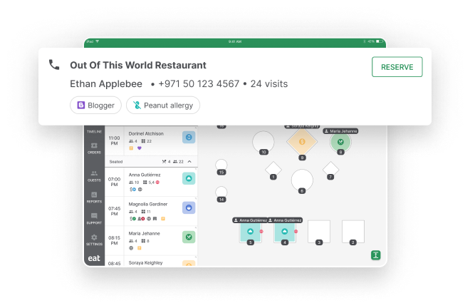 Eat App Phone Integration