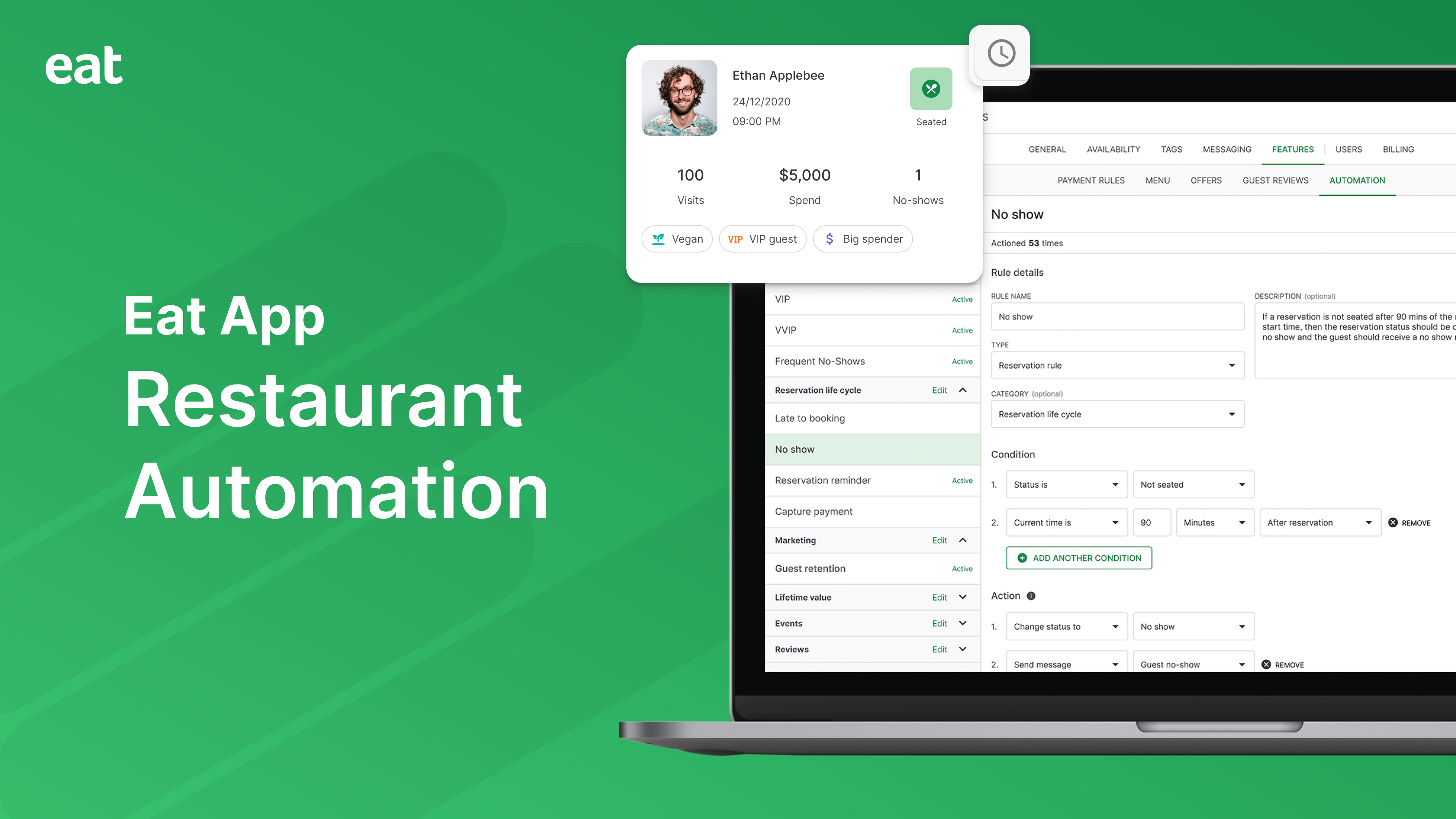Eat App's restaurant automation