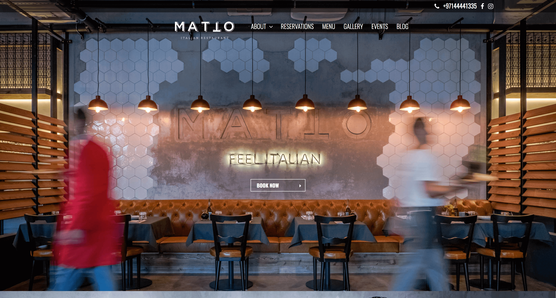 Matto Restaurant Website