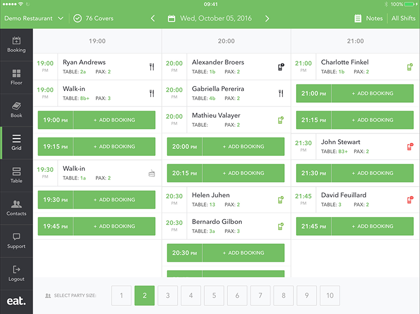 App Feature Grid View How To Manage Capacity At Your